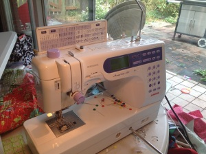 The mother of all sewing machines from the father of my children.  Love that man!