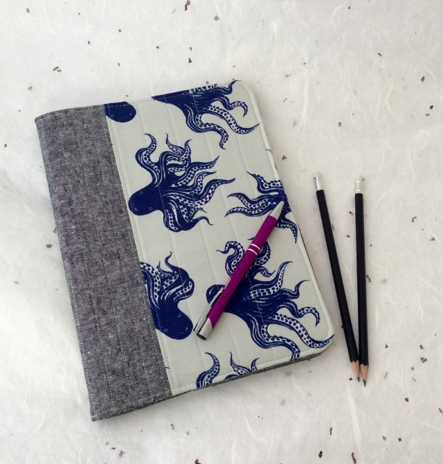 Composition Book Cover with Cotton & Steel Octopus Pearl