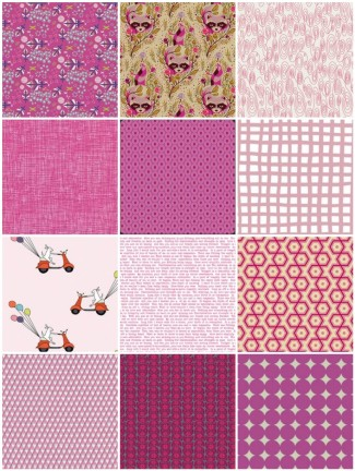 A pink palette from Sew Modern Fabrics