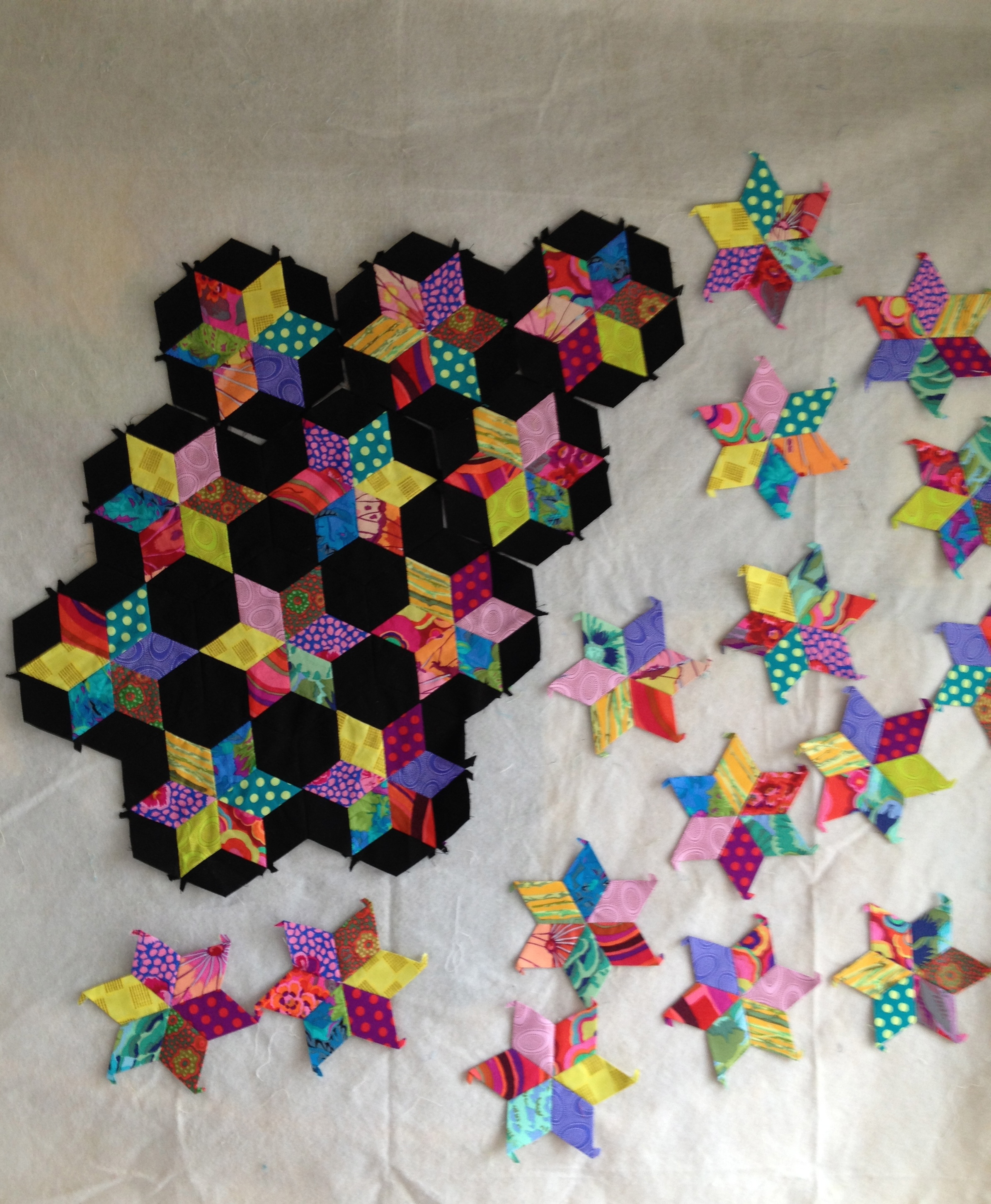 English Paper Piecing Spoolbeans